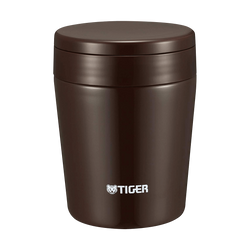 TIGER Stainless Steel Thermal Vacuum Insulated Food Jar Soup Cup #Chocolate Brown 300ml MCL-A030