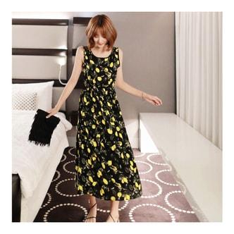 韩国MAGZERO [限量销售] 柠檬纹海边度假沙滩裙 均码One Size(S-M)