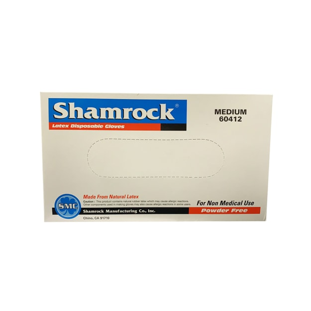 Product Detail - Shamrock Latex Disposable Gloves Size M Medium 100pcs [made from natural latex] - image 0