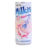 韩国LOTTE乐天 牛奶苏打水碳酸饮料 蜜桃味 250ml