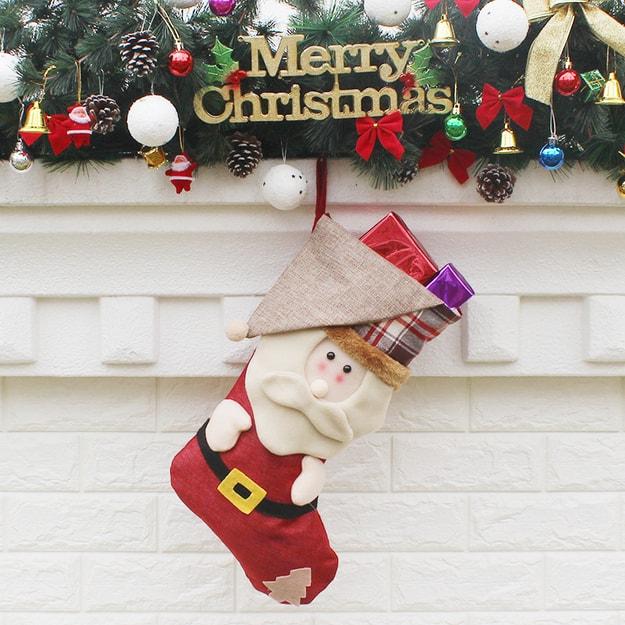 商品详情 - 中国直邮 TIMESWOOD圣诞袜子圣诞装饰品节日用品礼品袜 老人 1件 - image  0