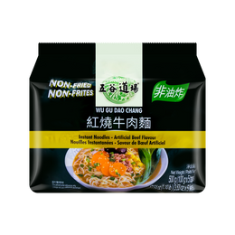 WUGUDAOCHANG Instant Noodles-Artificial Beef Flavour (Bag) 100g*5Bags