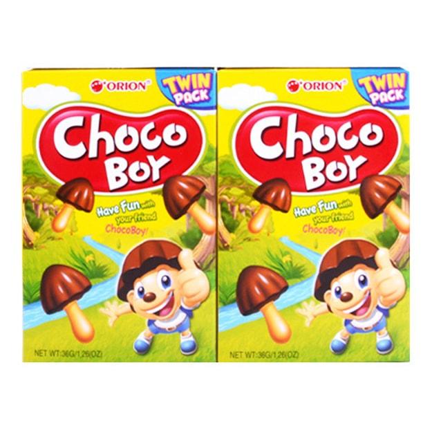 商品详情 - 韩国ORION好丽友 蘑古力蘑菇巧克力小饼干 36g*2盒 - image  0