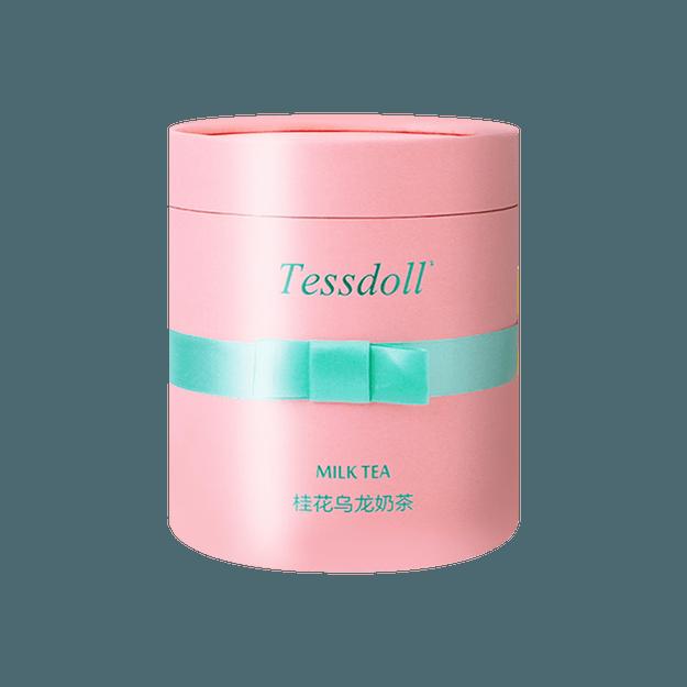 商品详情 - Tessdoll台湾台仕朵台式网红手工冲泡奶茶 无反式脂肪酸及香精 桂花乌龙 576g - image  0
