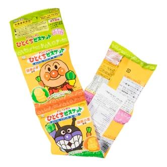 日本FUJIYA不二家面包超人儿童小小酥 米饼零食饼干 四连包 80g