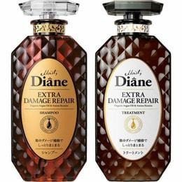 日本MOIST DIANE黛丝恩摩洛哥油 烫染损伤修护 限定洗护套装450ml*2(洗发水+护发素)
