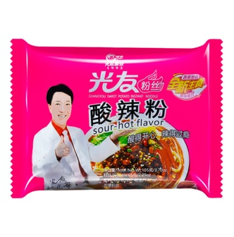 GUANGYOU Sweet Potato Instant Noodle Sour  Hot 105g