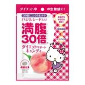 日本GRAPHICO 满腹30倍 瘦身纤体水果饱腹糖 桃子味 42g HELLO KITTY限定款