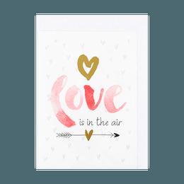 名创优品Miniso 情人节 红色love贺卡 1件入 (混5个设计)