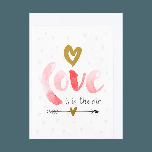 商品详情 - 名创优品Miniso 情人节 红色love贺卡 1件入 (混5个设计) - image  0