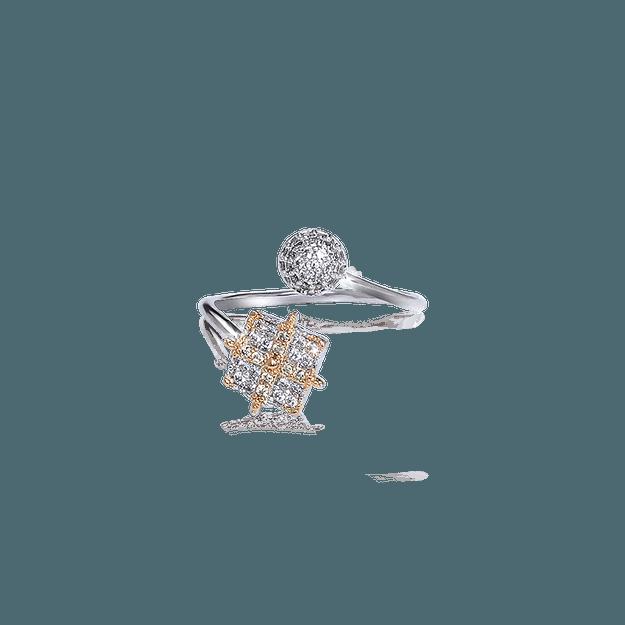 商品详情 - 纽约 IHUSH 俏物悄语 文艺复兴十字开口戒指 金色 1件入 - image  0
