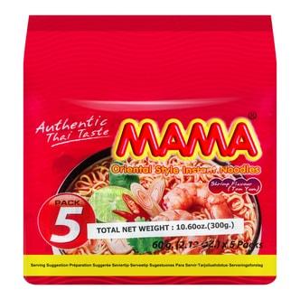 泰国MAMA妈妈 酸辣虾味方便面 5连包 300g