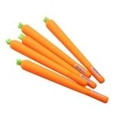 一正(YIZHENG)可爱超好质感软硅胶胡萝卜造型中性笔 / 啫喱笔 YZ5318  0.5mm  中国明星黄子韬正版同款  3支装