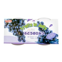 SHIRAKIKU Jelly Cup Grape Flavor 2 Cups 400g