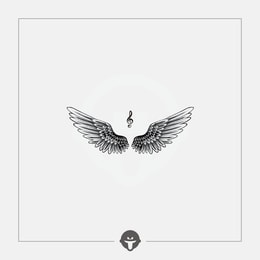 @BECOME Original Tattoo Stickers Feather One Piece