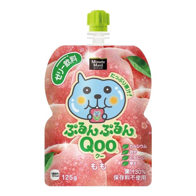 商品详情 - 美汁源 酷儿 果冻饮料 水蜜桃味 125g - image  0