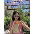 PRINSTORY 2019 Spring/Summer Healthy Fruit T-shirt Pink