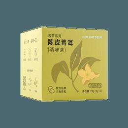 北鼎 陈皮普洱袋泡茶 3g×7袋