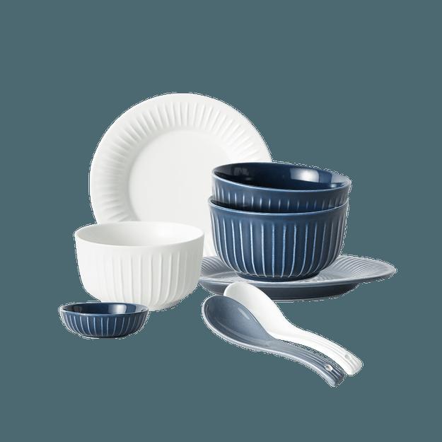 商品详情 - 网易严选 条纹系列餐具套装  2人套装 - image  0