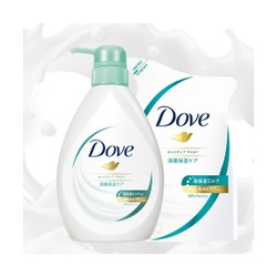 DOVE BODY WASH SENSITIVE MILD PUMP TRIAL+REFILL