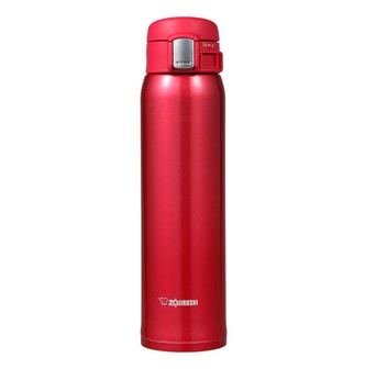 ZOJIRUSHI One Touch Stainless Steel Vacuum Thermal Bottle Red 600ml SM-SA60RW