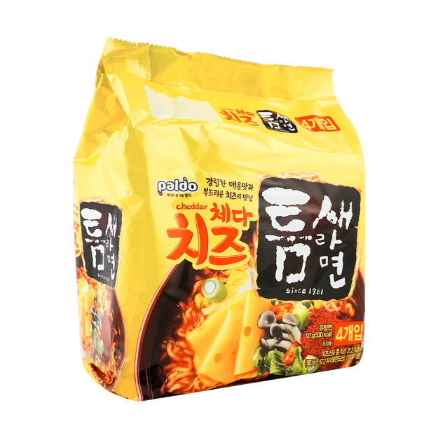 Product Detail - PALDO Flaming Hot Savoury Cheese Noodle 111g*4 - image 0