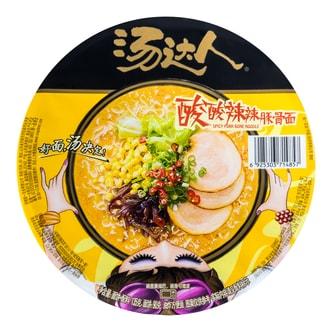 台湾统一 汤达人 酸酸辣辣豚骨面 碗装 135g