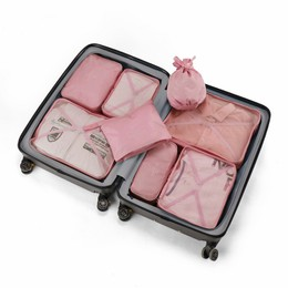 TIMESWOOD Storgage Bag Multi-functional Knicker Underwear Bra Storgage Portable Travel Washed Organizing Bag Pink 8 pcs