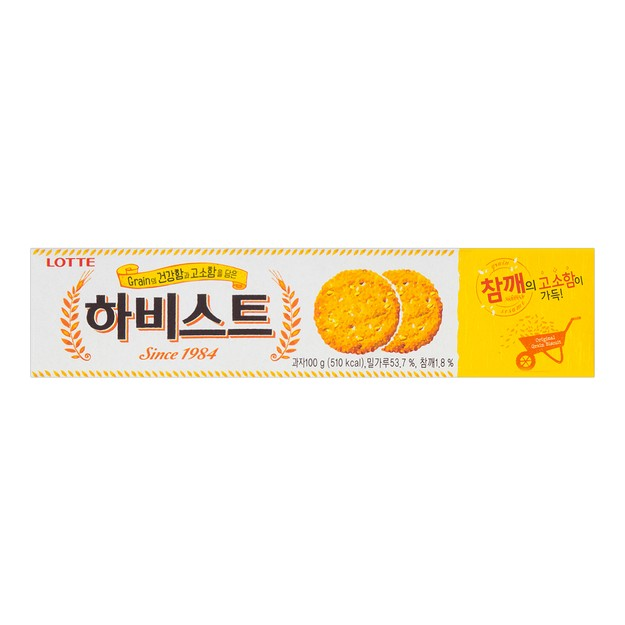 LOTTE HARVEST White Sesame Crackers 88g