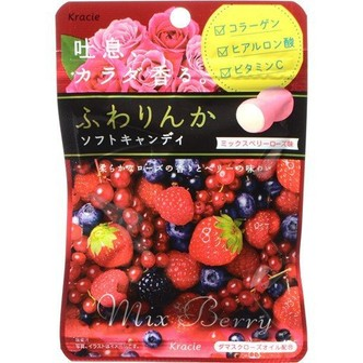 KRACIE FUWARINKA Mix Berry Rose Candy 32g