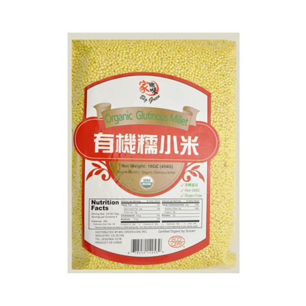 商品详情 - 家乡味 绿色有机糯小米 454g USDA认证 - image  0