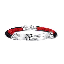 Love couple bracelet a pair sterling silver natal year red rope