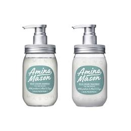 日本AMINO MANSON 清爽控油无硅油 限定洗护套盒 450ml*2(洗发水+护发素)