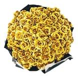 海厄辛思 永生花金玫瑰 金生唯一系列 寓言 99朵 捧花