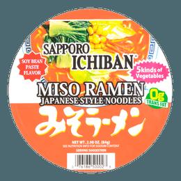 日本SAPPORO ICHIBAN札幌一番 味噌拉面 碗装 84g