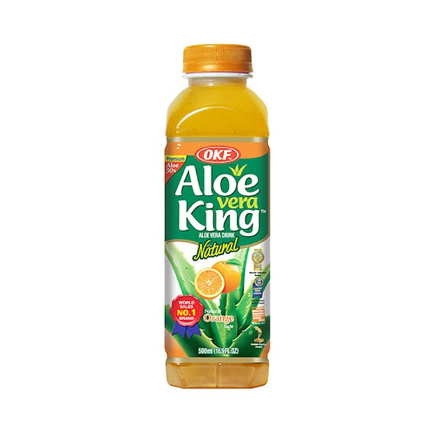 OKF Aloe Vera King Natural Orange Taste Aloe Drink 500ml