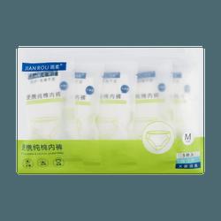 JIANROU Disposal Cotton Underwear for Women M 5pcs