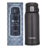 ZOJIRUSHI One Touch Stainless Steel Vacuum Thermal Bottle Matte Gray 360ml SM-SC36-HM
