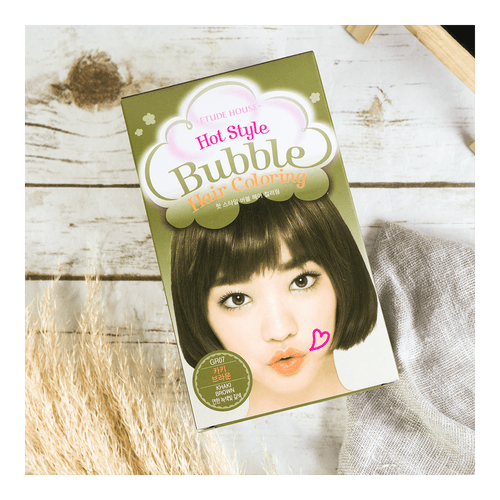 ETUDE HOUSE HOT STYLE Bubble Hair Coloring Khaki Brown  #GR07