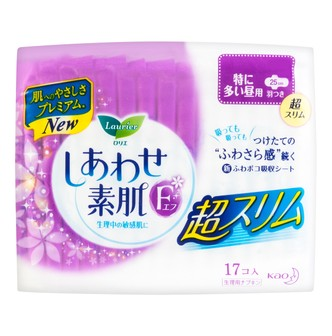 KAO LAURIER F Silky Thin Sanitary Napkins with Wings Day Use 25cm 17pads