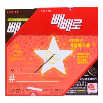 韩国LOTTE乐天 PEPERO 起司曲奇巧克力脆棒 4盒入 135g