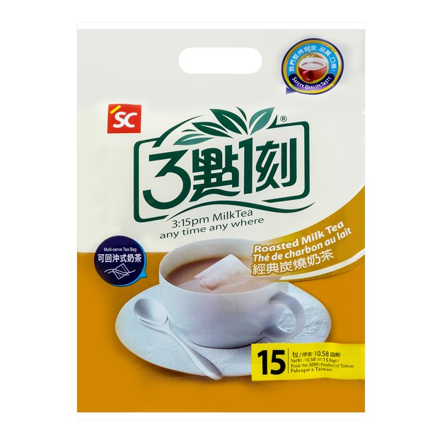 商品详情 - 台湾三点一刻 可回冲式经典炭烧奶茶 15包入 300g - image  0