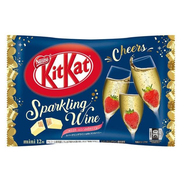 商品详情 - DHL直发【日本直邮】日本名菓 KIT KAT限定系列 香槟草莓口味巧克力威化 12枚装 - image  0