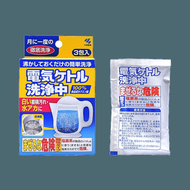 商品详情 - KOBAYASHI 小林制药  电热水壶清洗专用柠檬酸除垢剂  3包 - image  0