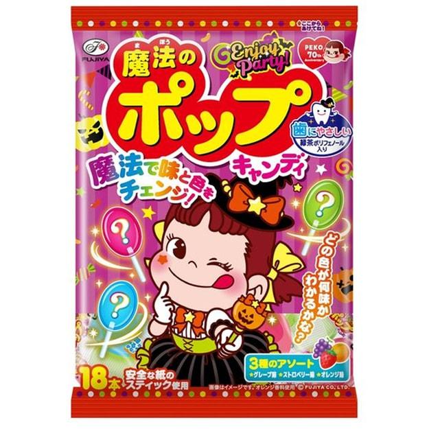 商品详情 - 【日本直邮】DHL直邮3-5天到 日本不二家 万圣节限定 魔法的棒棒糖 18支 - image  0