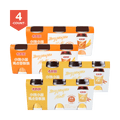 【Pack of 12】XIANGPIAOPIAO Milk Tea Original Flavor 3pc X 2 Wheat Flavor 3pc X 2