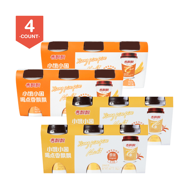 Product Detail - 【Pack of 12】XIANGPIAOPIAO Milk Tea Original Flavor 3pc X 2 Wheat Flavor 3pc X 2 - image 0