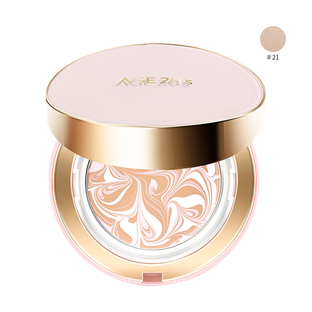 Product Detail - AGE 20\'S Signature Essence Cover Pact Moisture #21 Light Beige SPF50+ PA+++ 14g*2 - image 0