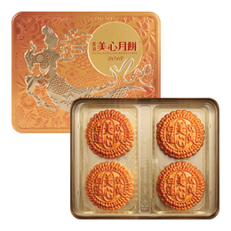 MEI-XIM White Lotus Seed Paste Mooncake With 2 Egg Yolks 4pc 740g