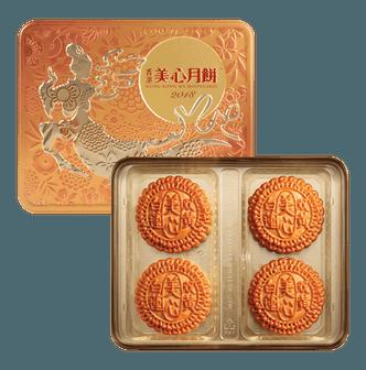 香港美心 双黄白莲蓉月饼 4枚入 740g